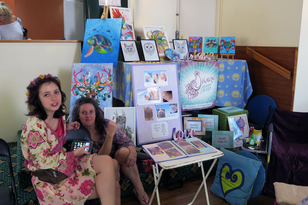 Our colourful stall at Conscious Life Festival Nov 2016